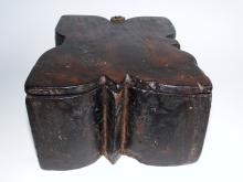 Lot 109: 18TH C CARVED SPICE BOX