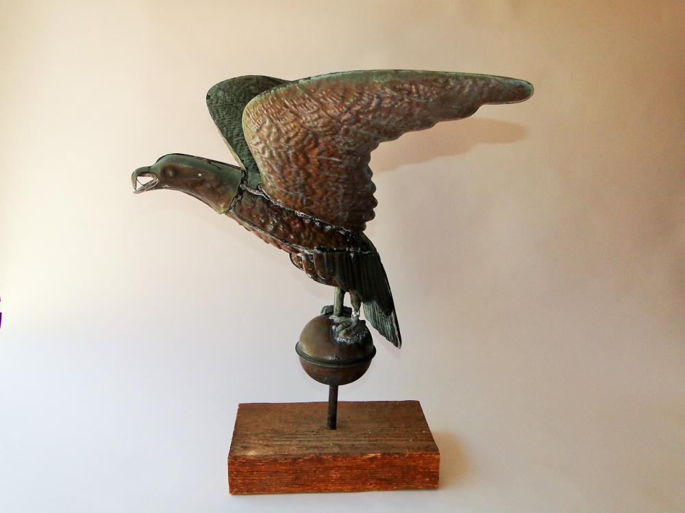 C 1940 COPPER EAGLE WEATHERVANE
