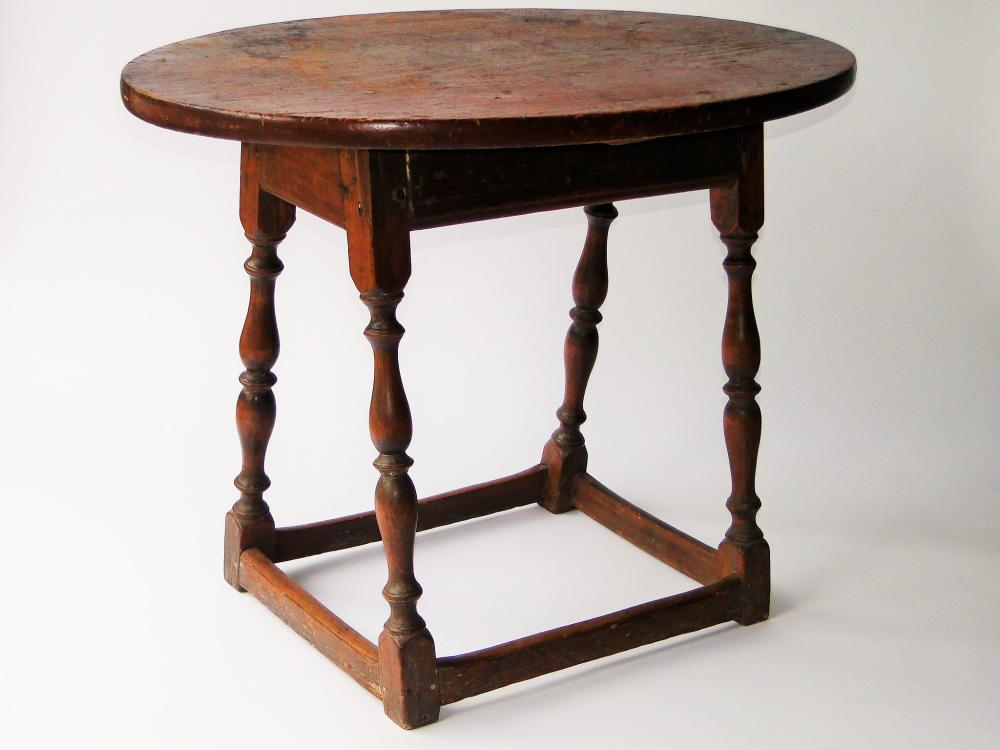 EARLY 18TH C WILLIAM AND MARY TAVERN TABLE