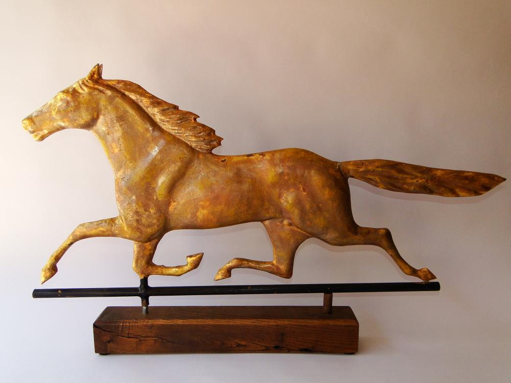 Lot 118: C. 1880 SMUGGLER HORSE WEATHERVANE