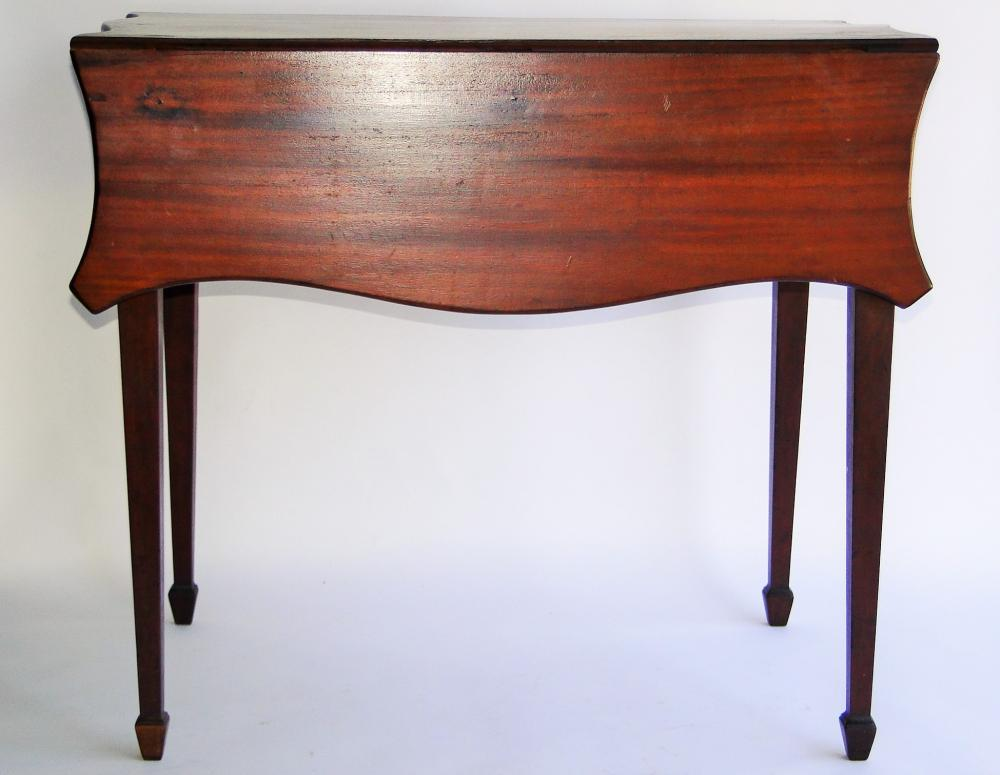Lot 132: 18TH C CARVED PEMBROKE TABLE