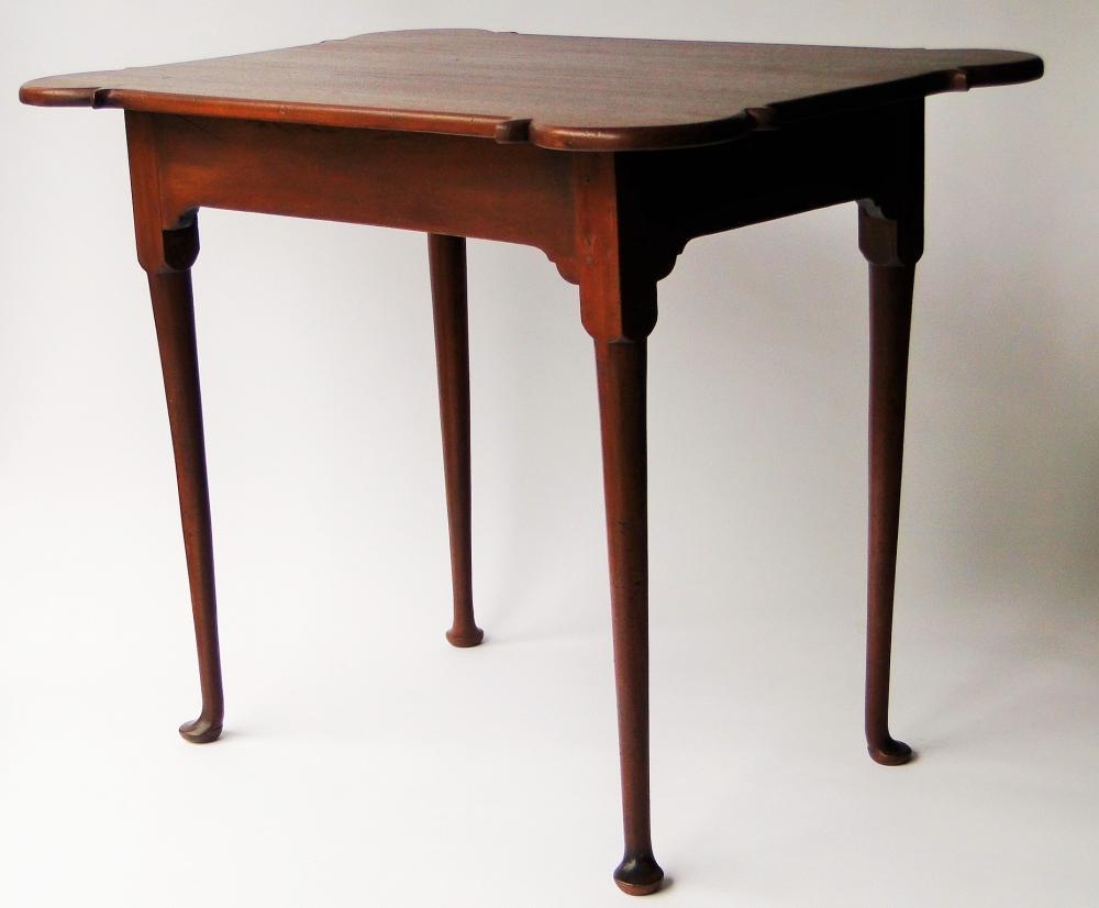 18TH C QUEEN ANNE PORRINGER TOP TEA TABLE