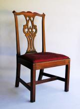 Lot 136: 18TH C CHIPPENDALE SIDE CHAIR