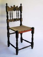Lot 139: EARLY CARVED SIDE CHAIR