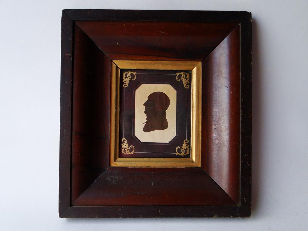 19TH C SILHOUETTE OF A GENTLEMAN