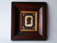 Lot 152: 19TH C SILHOUETTE OF A GENTLEMAN