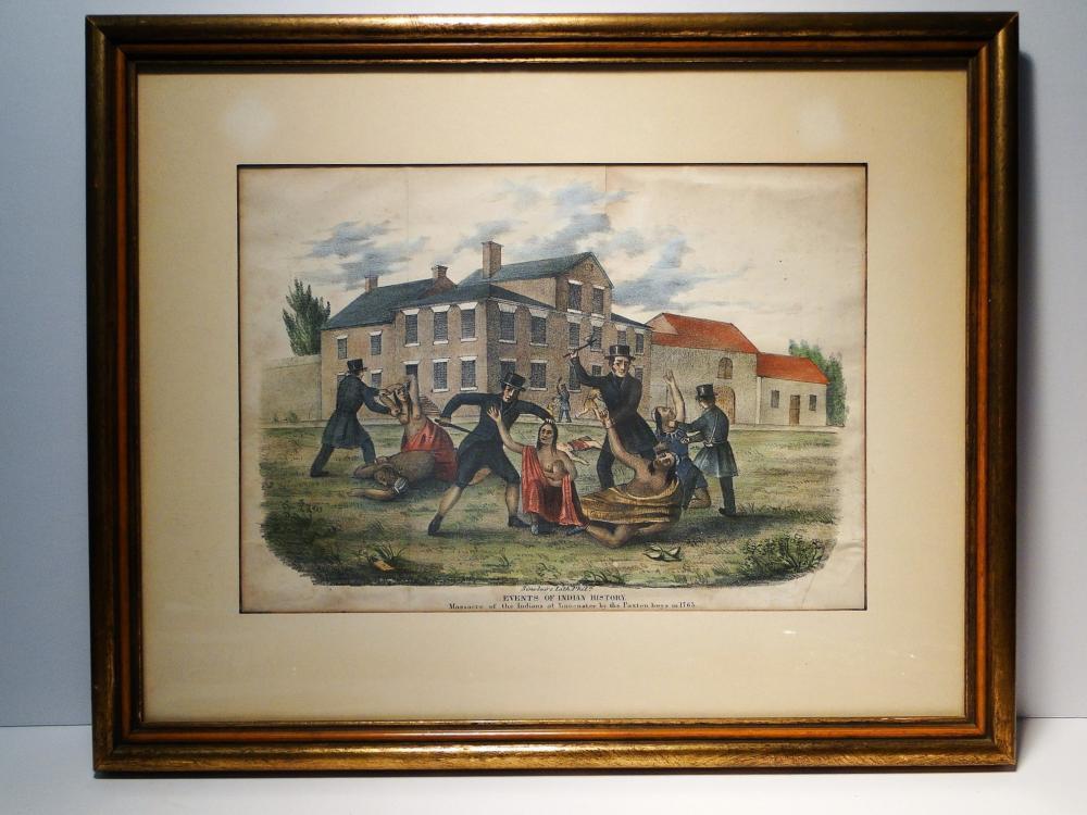 1763 THE PAXTON BOYS MASSACRE OF  CONESTOGA INDIANS