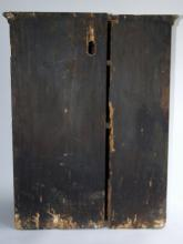 Lot 108: 18TH C BLUE PAINTED HANGING CUPBOARD