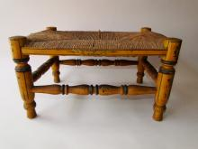 Lot 70: 19TH C PAINTED DECORATED FOOT STOOL