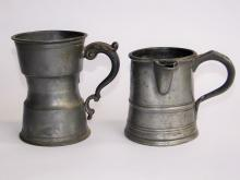 Lot 70H: TWO 18TH C PEWTER MEASURES
