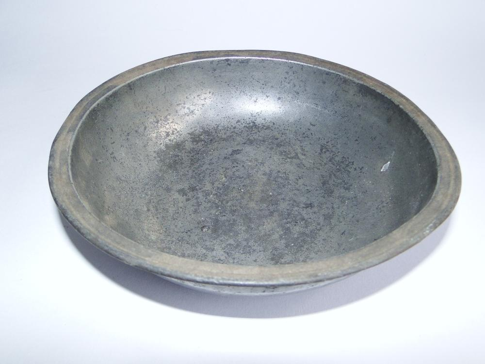18TH C TOWNSWEND AND COMPTON PEWTER BOWL