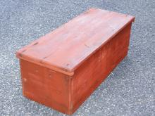 Lot 80B: DIMINUTIVE BLANKET CHEST WITH INITIAL