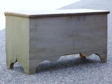 Lot 80A: 19TH SAGE GREEN BLANKET CHEST