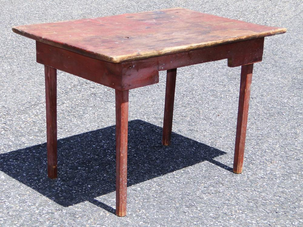 Lot 80C: EARLY 19TH C RED TAVERN TABLE