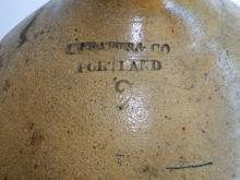 Lot 80D: 19TH C STONEWARE OVOID JUG T. CRAFTS & CO,