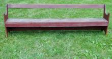 Lot 80G: RARE QUAKER MEETING HOUSE BENCH