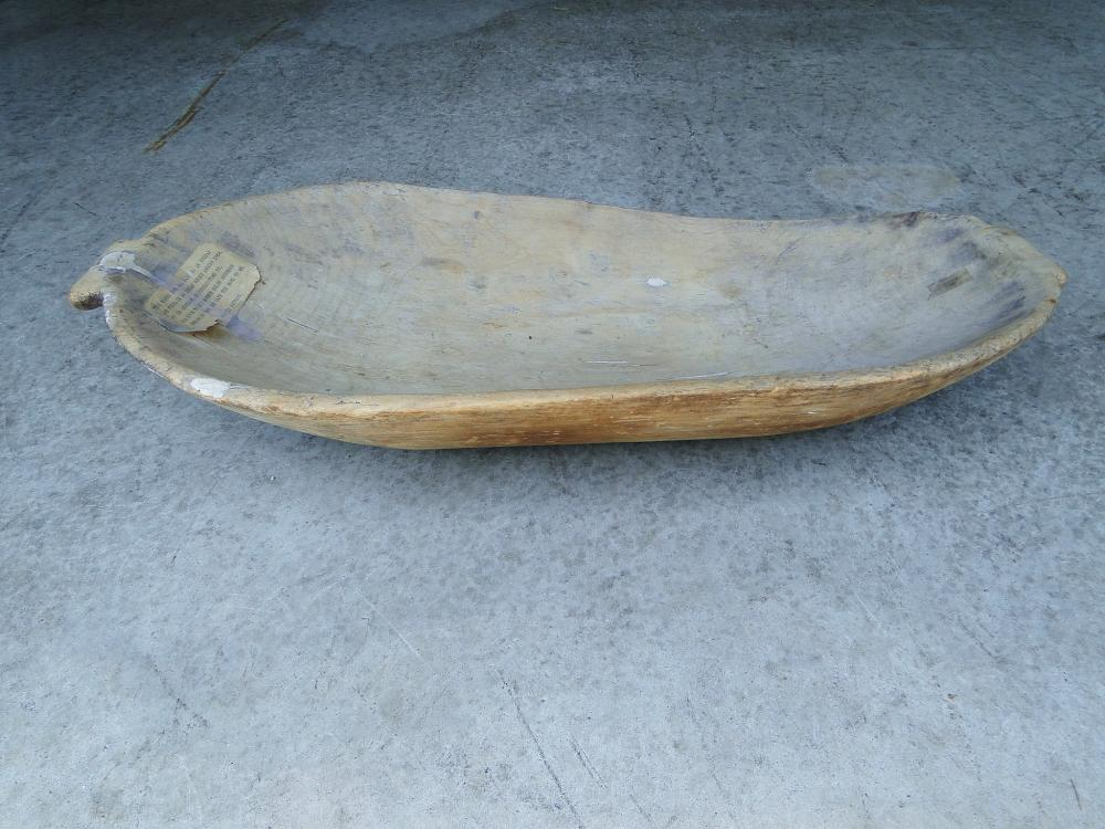 Lot 80J: 18TH C NATIVE AMERICAN WOODEN TRENCHER