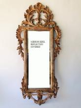 ANTIQUE FRENCH CARVED MIRROR