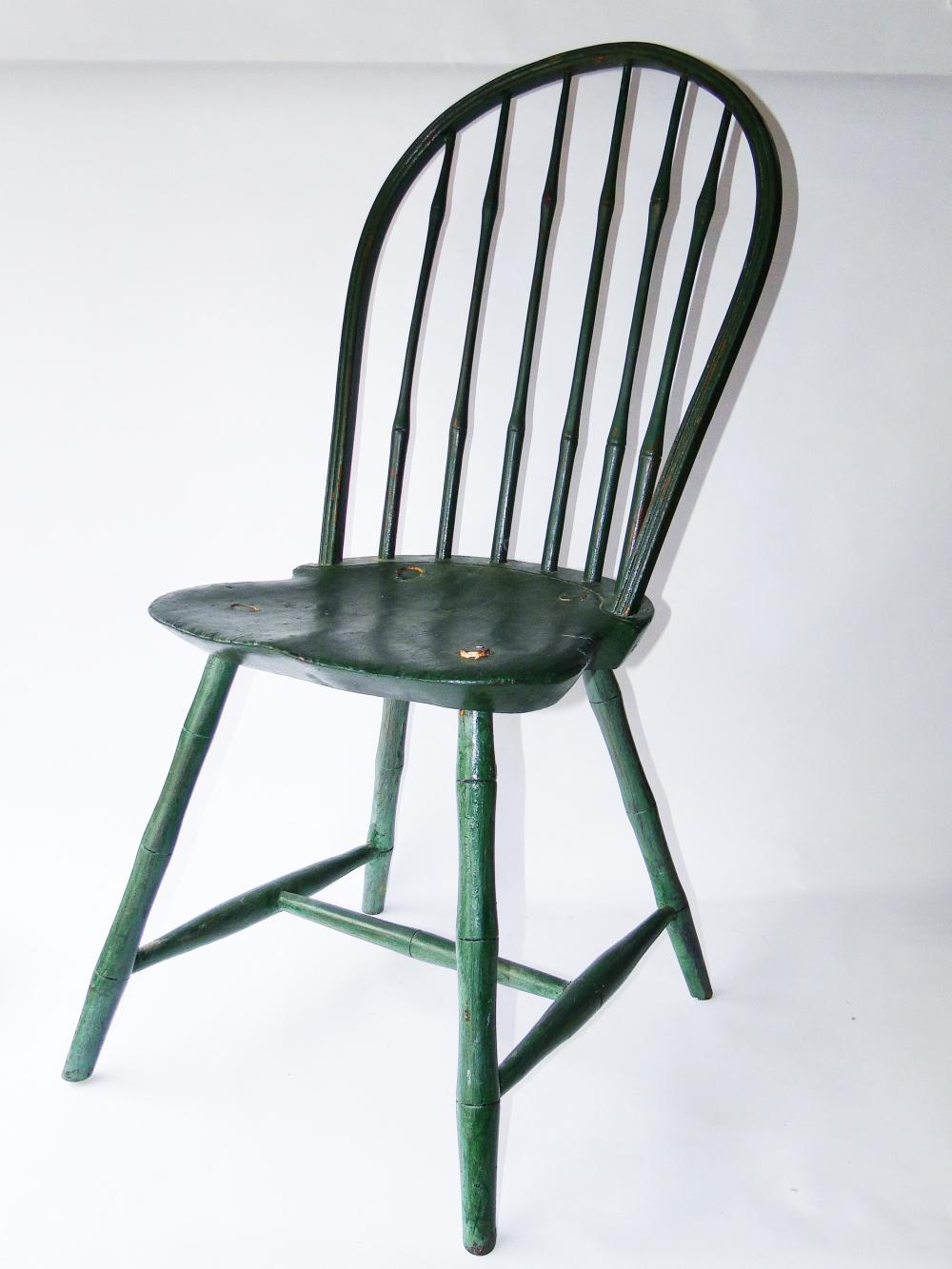 18TH C PAINTED RI WINDSOR SIDE CHAIR
