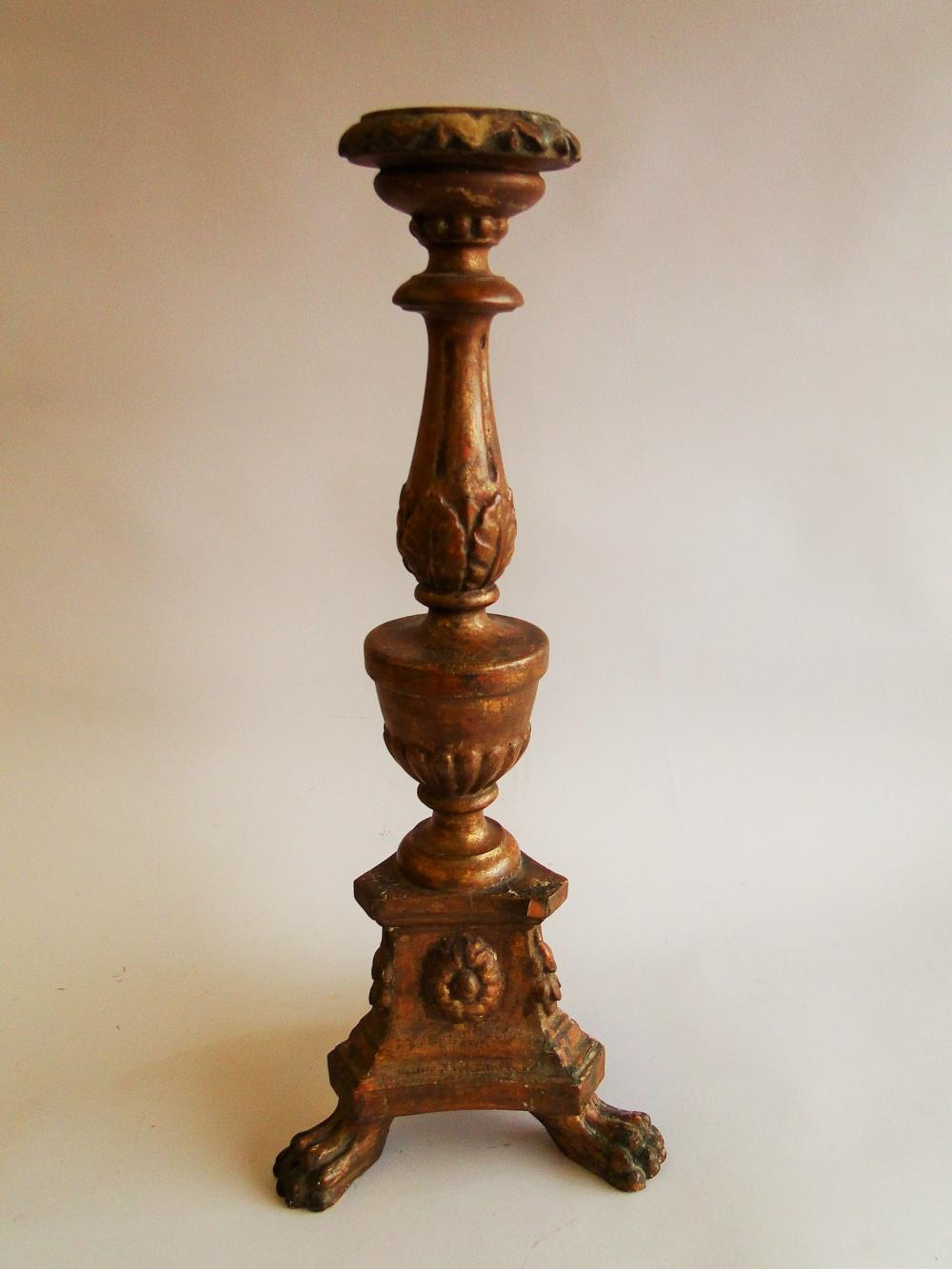 TALL GILT CANDLE PRICKET