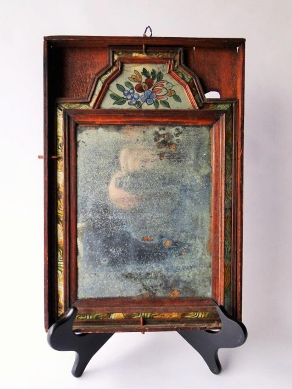 18TH C COURTING MIRROR