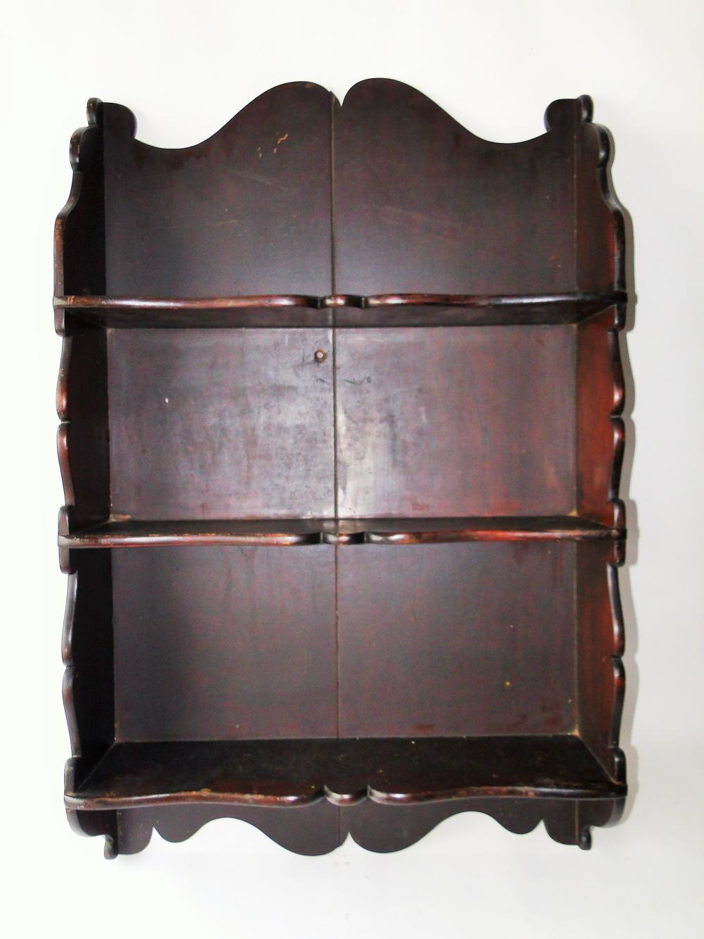 18TH C QUEEN ANNE HANGING SHELVES