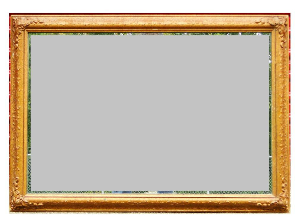 20TH C GOLD CARVED FRAMED MIRROR