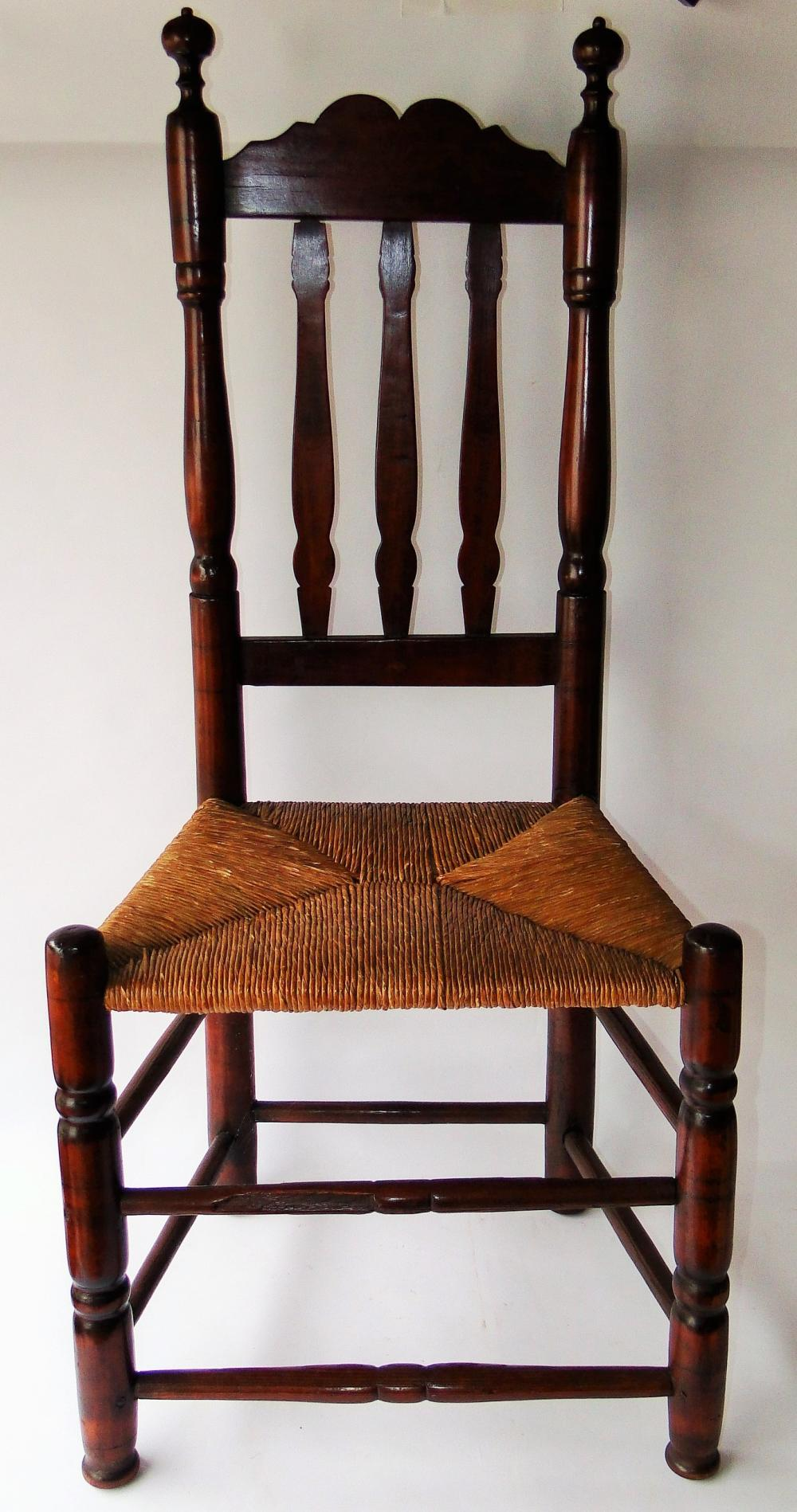 18TH C CT. BANISTER BACK SIDE CHAIR