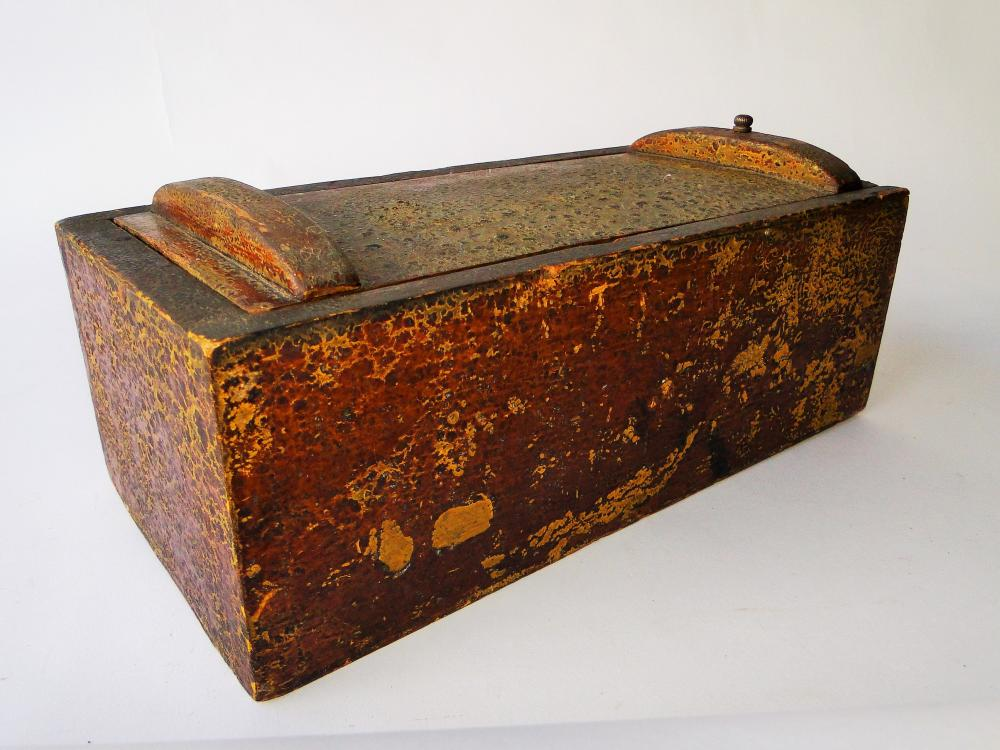 SMALL 19TH C SHIP CAPTAIN  CANDLE BOX