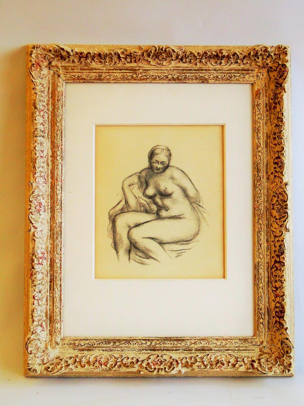LITHOGRAPH OF A NUDE BY ARISTIDE MAILLOL