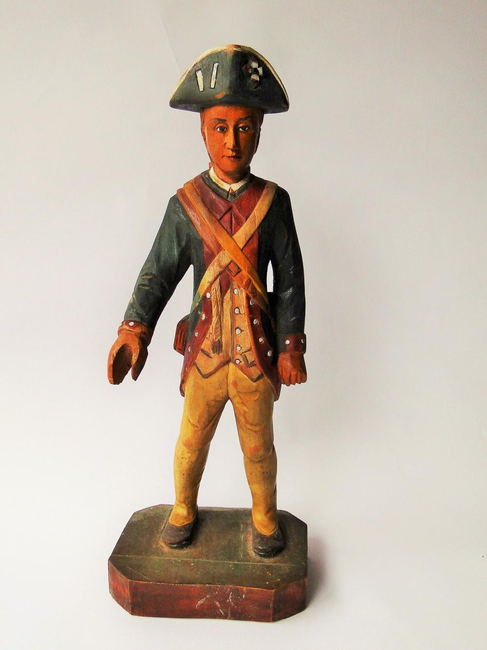 19TH C CARVING OF REVOLUTIONARY SOLDIER