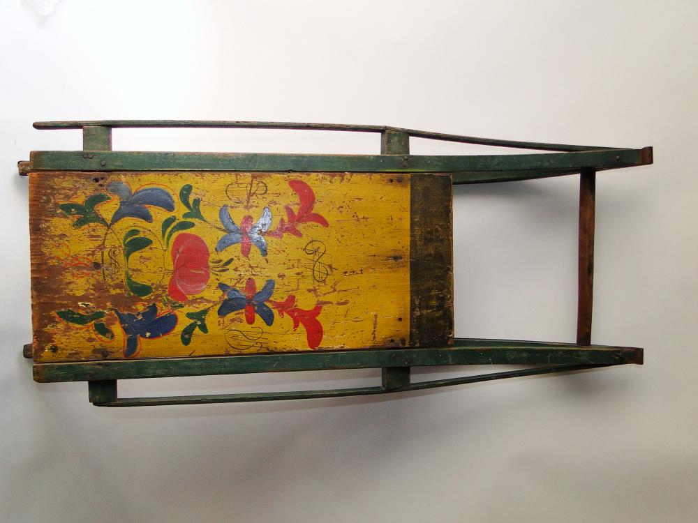 19TH C PAINTED SLED