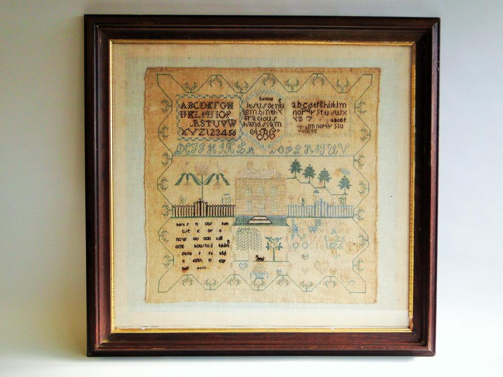 EARLY 19TH C SAMPLER  DATED 1826