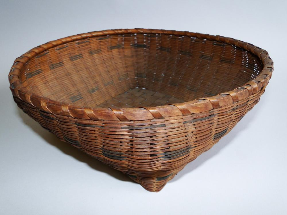19TH C DECORATED TABLE BASKET