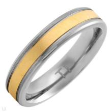 Superb New Gentlemens Band Ring in 14K/Ti Gold Plated Titanium. Size: US-9.