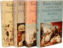 CHURCHILL, Winston. A History of The English-Speaking Peoples. (ALL FIRST EDITIONS - 4 VOLUMES - 1956-58)