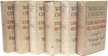 CHURCHILL, Winston. The Second World War. (ALL FIRST EDITIONS - 6 VOLUMES - 1948-54)
