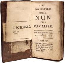 GUILLERAGUES, Gabriel Joseph de LAVERGNE, vicomte de. Five Love-Letters from a Nun to a Cavalier - BOUND WITH - Seven Portuguese letters. (1686/1681 - 3rd EDITION & 1st EDITION)