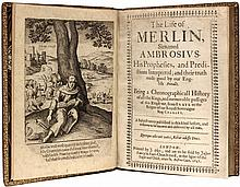 HEYWOOD, Thomas. Life of Merlin, sirnamed Ambrosius His Prophecies, and Predictions Interpreted... (FIRST EDITION - 1641)