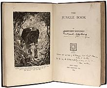 KIPLING, Rudyard. The Jungle Book. (SIGNED WITH A 4 LINE QUOTE - 1899)