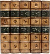 MACAULAY, Thomas Babington. The History of England From The Accession of James The Second. (ELEVENTH EDITION - 5 VOLUMES - 1856)