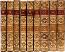 SCOTT, Sir Walter. The Life of Napoleon Buonaparte, Emperor of The French. With a Preliminary View of The French Revolution. (9 VOLUMES - FIRST EDITION - 1827)