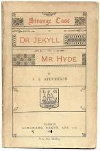 STEVENSON, Robert Lewis. Strange Case of Dr. Jekyll and Mr. Hyde. (FIRST LONDON EDITION - 1886)
