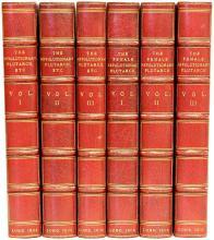STEWARTON, Lewis Goldsmith. The Revolutionary Plutarch & The Female Revolutionary Plutarch. (ALL FIRST EDITIONS - 1804, 05, 06 - 6 VOLUMES)