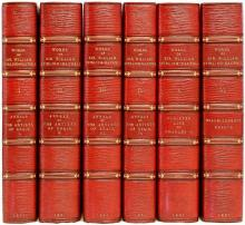 STIRLING-MAXWELL, Sir William. The Works of Sir William Stirling-Maxwell. (Annals of The Artists of Spain - Cloister Life of Charles V - Miscellaneous Essays). (6 VOLUMES - 1891)