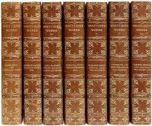 WHITTIER, John Greenleaf. The Complete Writings of John Greenleaf Whittier. (7 VOLUMES - AMESBURG EDITION)
