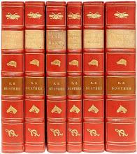 SURTEES, Robert S.. The Sporting Novels. (Plain or Ringlets - Mr. Sponge's Sporting Tour - Ask Mama - Jorrock's Jaunts & Jollities - Mr. Fancy Romford's Hounds - Handley Cross)