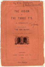 DODGSON, Charles L. (Lewis Carroll) - The Vision of the Three T's - (FIRST EDITION - 1873 !)