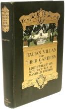 WHARTON, Edith (Maxfield Parish). Italian Villas and Their Gardens. (FIRST EDITION - 1904)