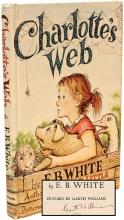 WHITE, E. B.. Charlotte's Web. (SIGNED AND INSCRIBED BY THE ILLUSTRATOR)